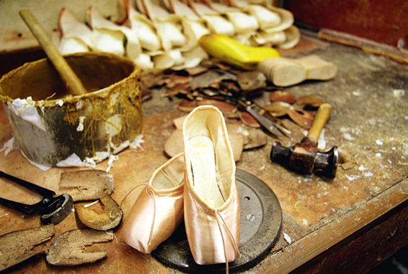 The big burly blokes who make infinitely precise pointe shoes by hand