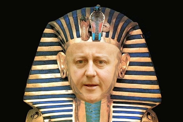 Will David Cameron manage to throw off the Tutankhamun-style curse hovering over his Europe speech? Picture: Carla Millar