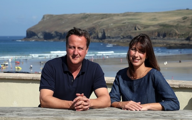 Prime Minister David Cameron Spends A Holiday In Cornwall With His Family