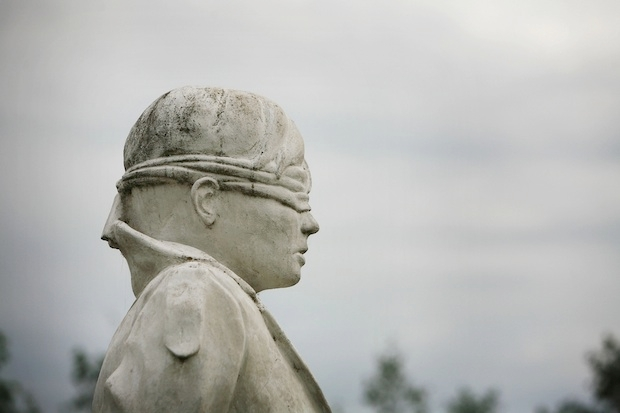 The memorial to soldiers executed by British forces in World War I in The National Memorial Arboretum. Image: Getty