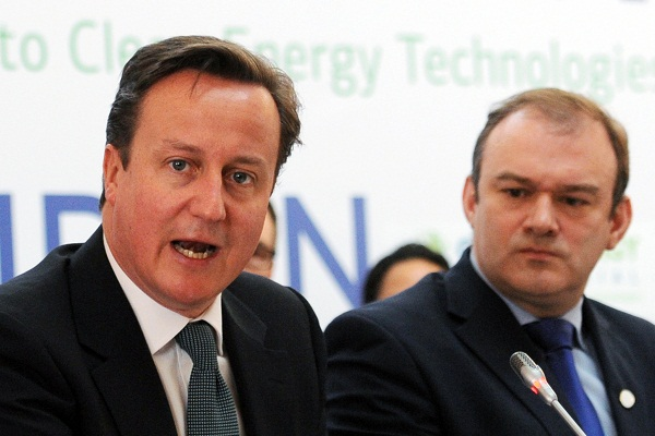 David Cameron and Ed Davey. Image: Getty