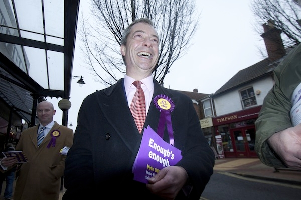 After Ukip's second place in Eastleigh, Farage thinks they can win a by-election. Picture: PA