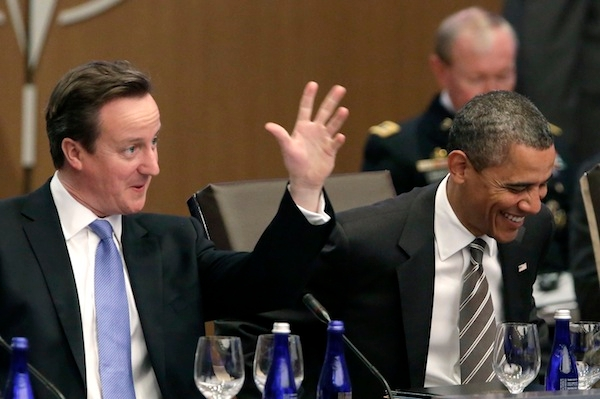 David Cameron will be welcoming Barack Obama's reelection. Photo: Getty Images.