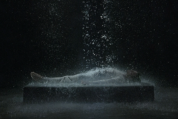'Tristan's Ascension (The Sound of a Mountain Under a Waterfall)', 2005, by Bill Viola