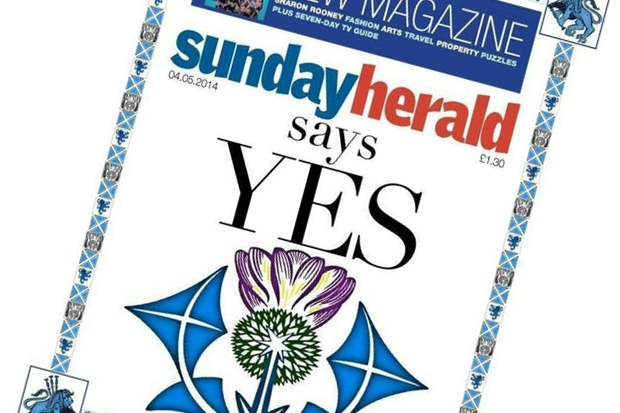The Sunday Herald becomes the first Scottish newspaper to say Yes to independence.