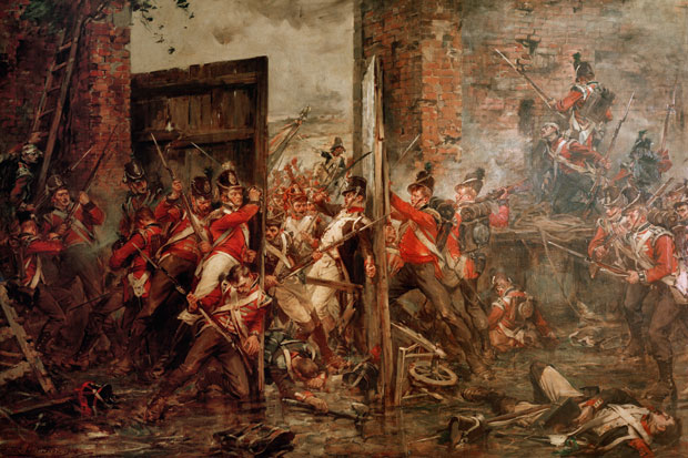 Decisive moment: 'Closing the Gates of Hougoumont', by Robert Gibb     Photo: National Museums Scotland