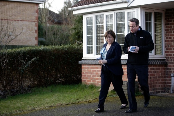 Pounding the streets wasn't enough for David Cameron and Maria Hutchings to convince the voters of Eastleigh. Photo: Getty Images.