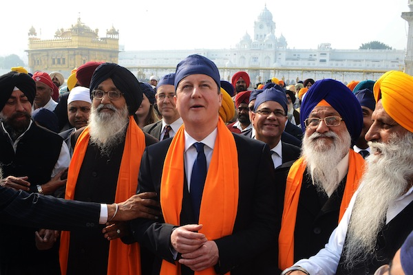 David Cameron in India this week. Picture: Getty