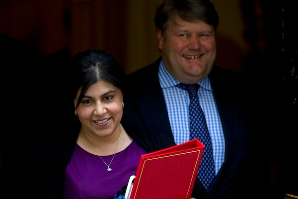 Baroness Warsi, a 'senior minister of state'. Picture: Getty.