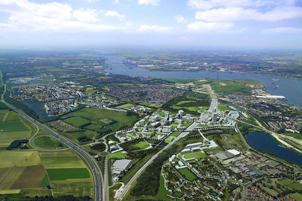 The proposed Ebbsfleet Valley new town