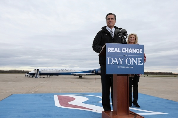 Mitt Romney Campaigns Across The Country Four Days Before The Election