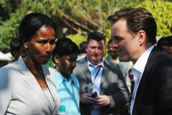 Niall Ferguson pictured with his wife, Ayaan Hirsi Ali. (GILES HEWITT/AFP/Getty Images)