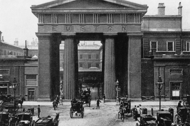 Euston Arch before it was knocked down in 1961. Photo: PA.