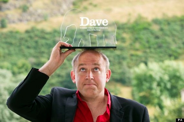 Tim Vine with his award for the best one-liner. Photo: PA
