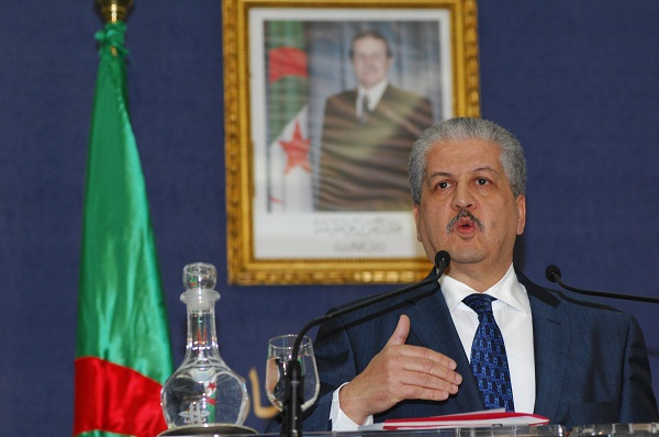 Algerian Prime Minister Abdelmalek Sellal, speaking during the recent hostage crisis. Image: Getty
