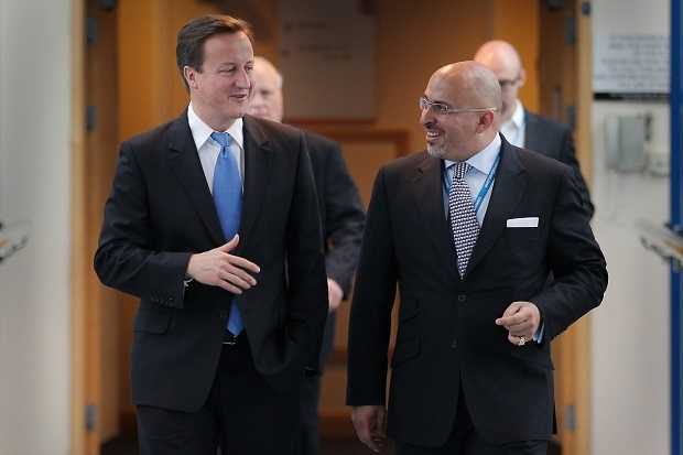 Nadhim Zahawi, pictured here with David Cameron, wants to have his cake and eat it on immigration.