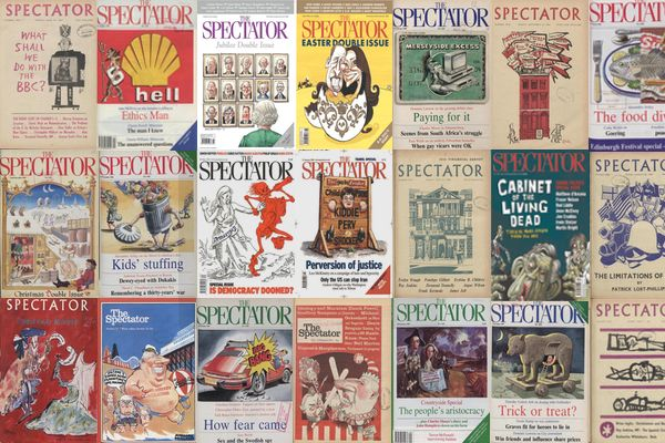 Spectator covers from 1828 - 2008. You can find them on at archive.spectator.co.uk