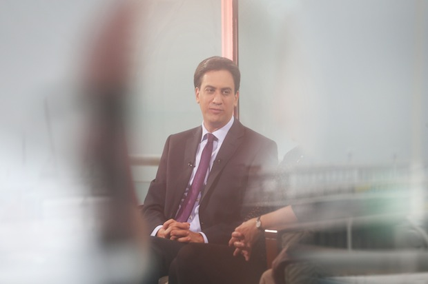 Ed Miliband on the Andrew Marr this morning. Photo: Getty Images.