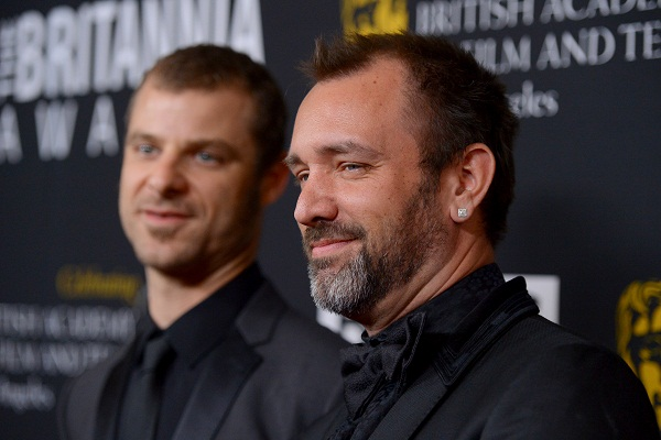 Matt Stone (l) and Trey Parker (r), the creators of Southpark, at a BAFTA gig in Los Angeles. Image: Getty