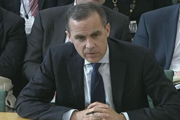 Mark Carney giving evidence to MPs today.