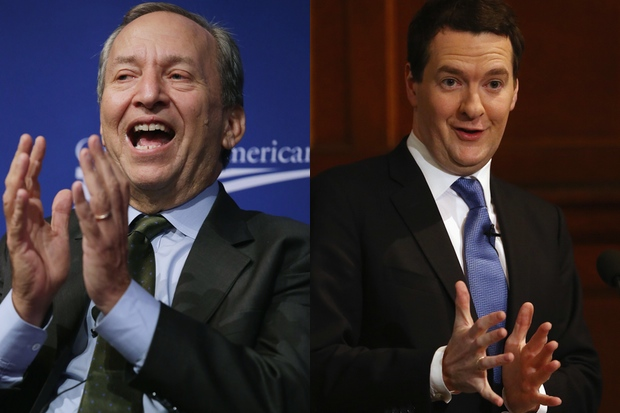 Larry Summers and George Osborne. Photos: Getty Images.
