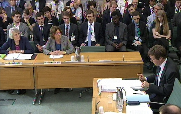 James Clappison grilling witnesses at the Home Affairs Select Committee. Picture: PA