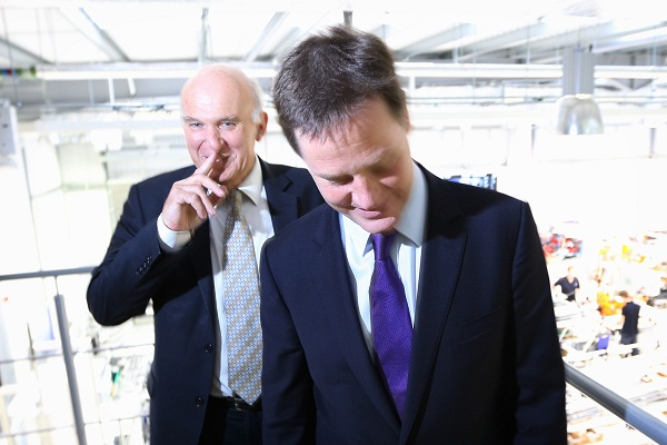 Deputy Prime Minister Nick Clegg And Business Secretary Vince Cable Visit Ricardo Engine Assembly Facility