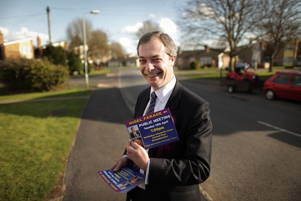 Nigel Farage on the stump in Ukipland. Photo: Getty Images.