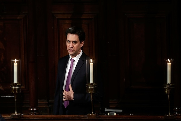 Ed Miliband took care to pay tribute to Baroness Thatcher, and warned others on the Left to be respectful. Picture: Getty