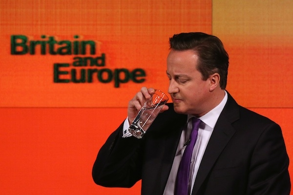 David Cameron delivers his speech this morning. Picture: Getty