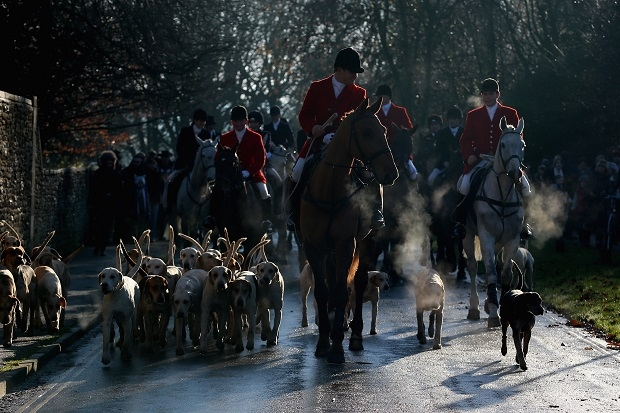 Riders Meet For The Traditional Boxing Day Hunt