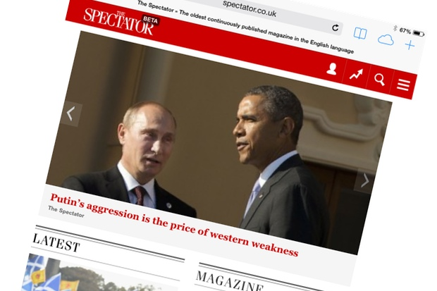 We're delighted to launch a beta version of The Spectator's responsive website today
