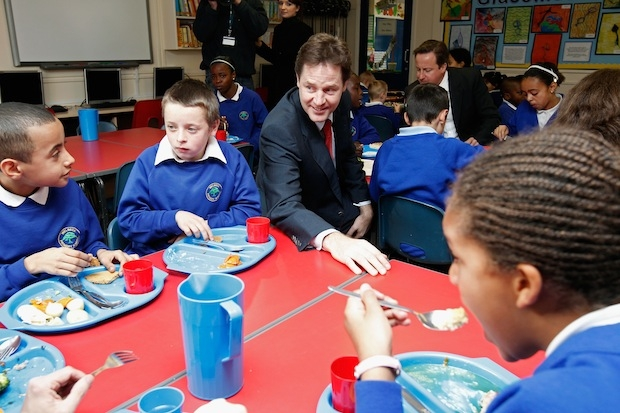 David Cameron And Nick Clegg Visit Nottingham Following Yesterday's Spending Review
