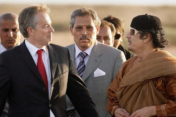 Tony Blair meets with Colonel Muammar Gaddafi on May 29, 2007. Contrary to what Ethan Chorin argues in a new book, western engagement hastened Gaddafi's downfall. Image: Getty