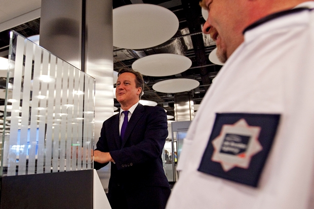 Prime Minister David Cameron Visits Heathrow Airport