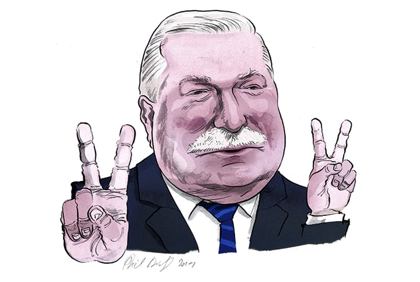Hero or double agent? An encounter with Lech Walesa