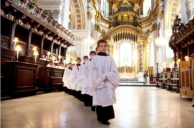 St Paul's Choristers Prepare For The Christmas Services
