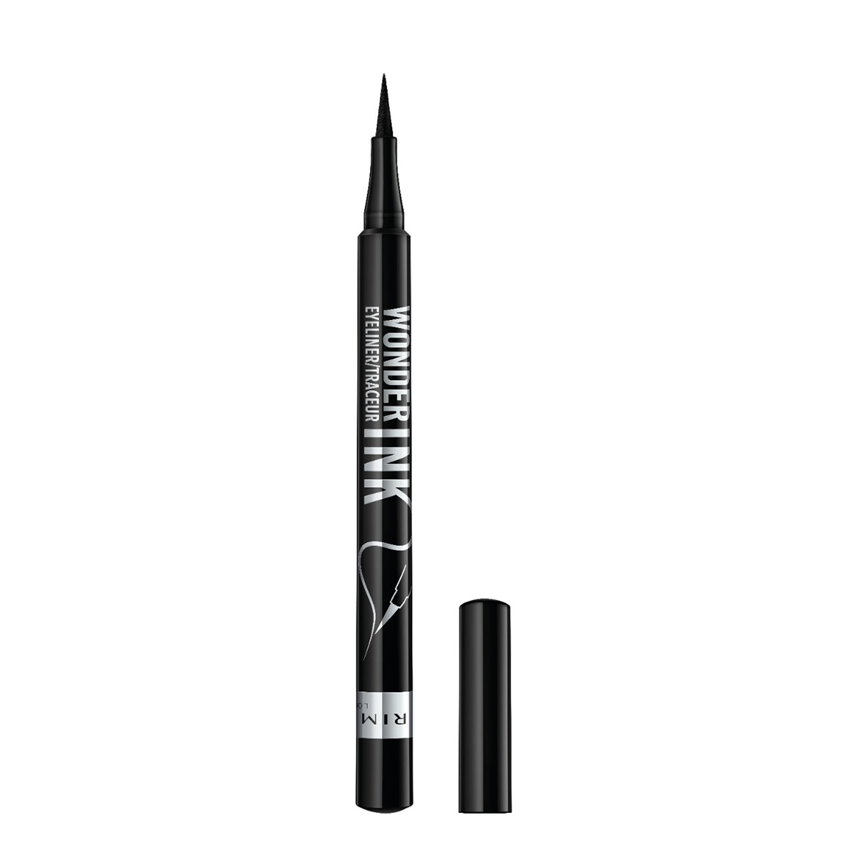 Rimmel London Wonder'Ink Ultimate Liner in Black with lid off