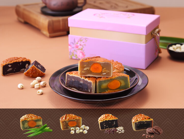 Celebration Mooncakes-Four Happiness Variety Pack