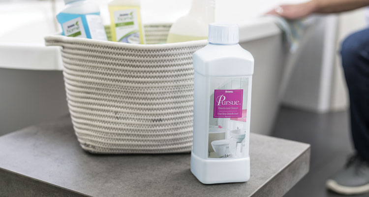 Amway Home cleaning products with Pursue Disinfectant One Step