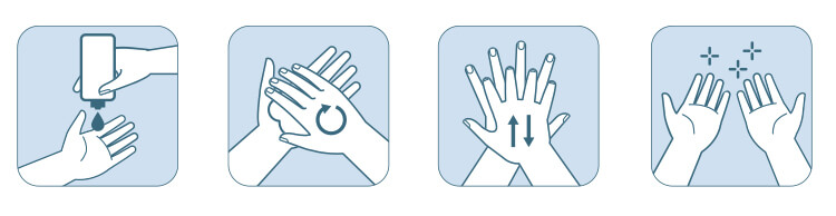 4 steps to sanitising your hands properly