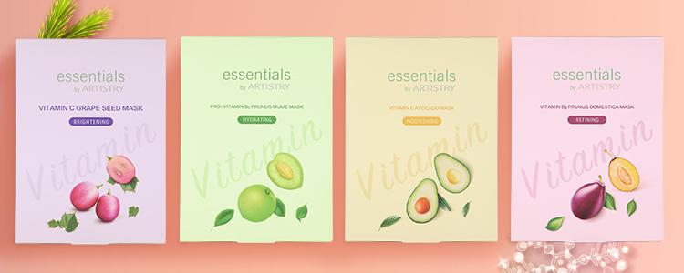 Essentials Vitamin Sheet Masks holiday 2020