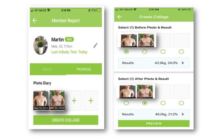 The BodyKey app has a coaching function