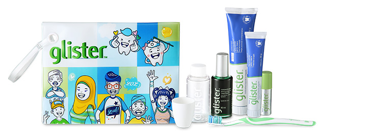 GLISTER Smile A Mile Pack Items