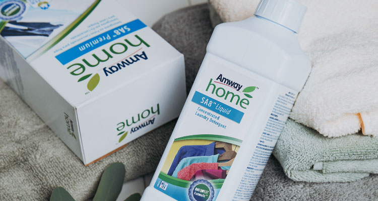 Closeup shot of Amway Home SA8 Concentrated Laundry Detergent