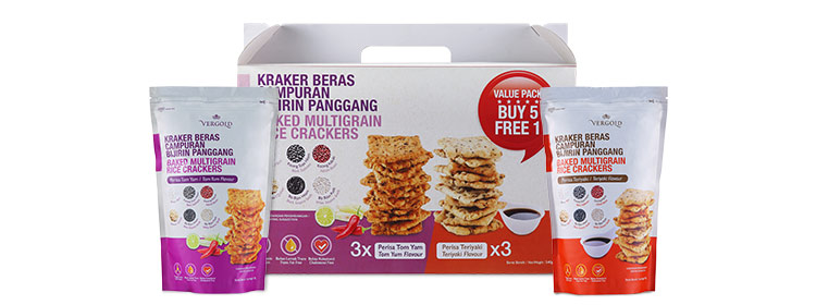 Baked Rice Crackers group