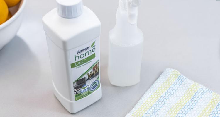 Amway Home L.O.C Multipurpose Cleaner beside spray bottle
