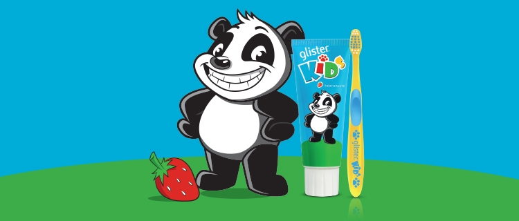 GLISTER Kids Toothbrush Toothpaste
