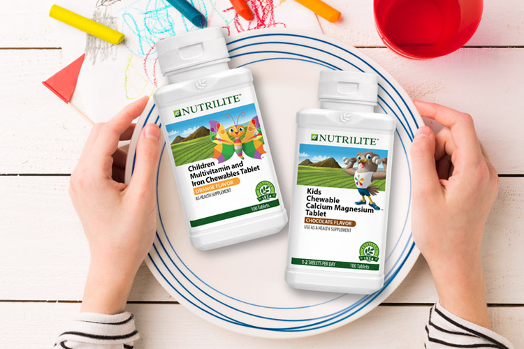 Nutrilite Chewables Multivitamin and Calcium Magnesium Tablets