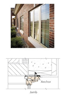 anchor through frame real life image and technical drawing